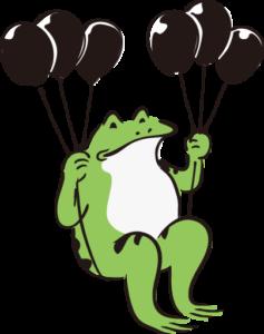 風船カエル