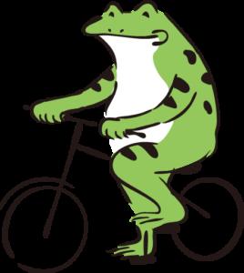 自転車かえる