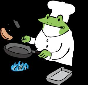 料理かえる
